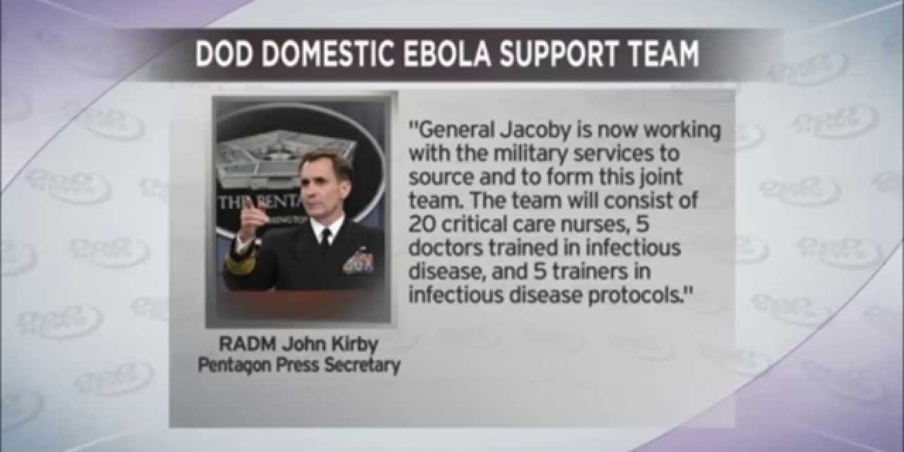 What They Don't Want You to Know! DOD Domestic Military Ebola Response Team, Depopulation Ebola Czar, and more Stunning Information…