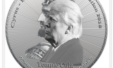 Prophecy Explodes: Sanhedrin and Temple Movement Issue Half Shekel Of Trump and Cyrus
