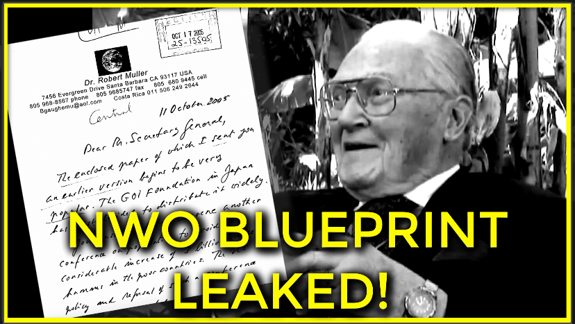 NWO Blueprint Exposed By UN Assistant Secretary-General Horrifying Details Leaked!!