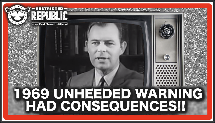 A 1969 Warning Went UNHEEDED That Shouldn't Have Been—Here's That Message…