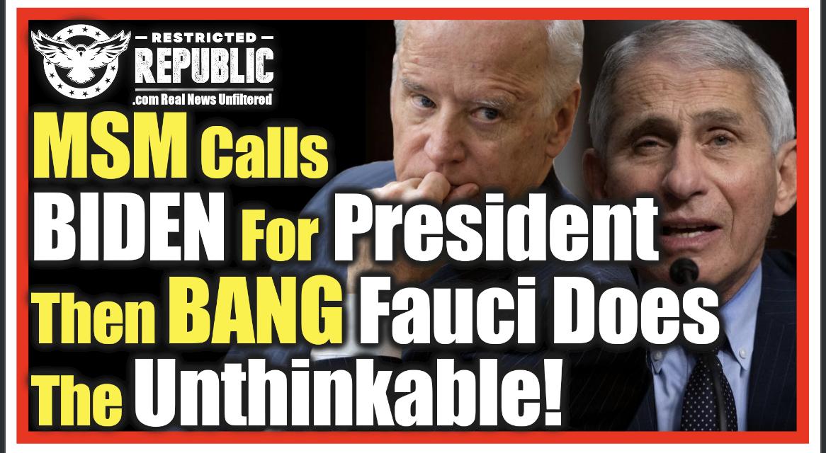 MSM Calls Biden President & BANG! Fauci & CNN Make  New COVID-19 U-Turn…WT?!