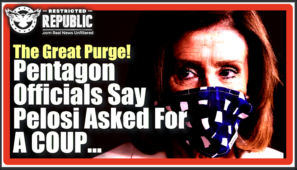 The Great Purge 2021! The Left Cheers & Pentagon Officials Say Pelosi Asked To Start a Military Coup