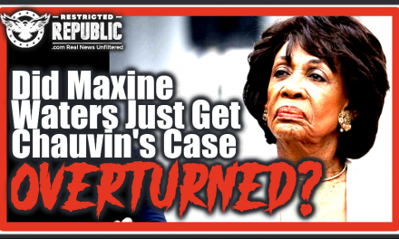 Maxine Waters & Her Democrat Possy Are In BIG Trouble! Did She Just Get Chauvin Case Overturned?!
