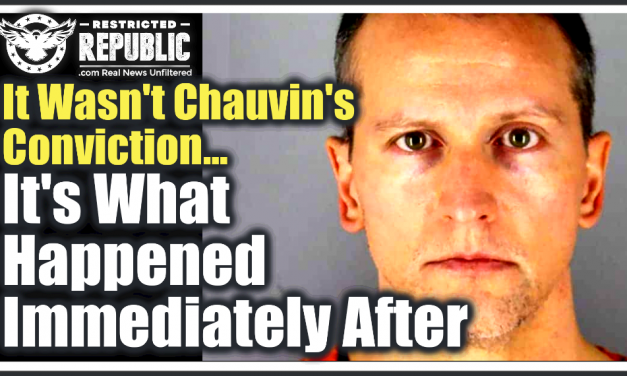 It Wasn't Chauvin's Conviction, It's What Happened Immediately After That Tells The Entire Story!