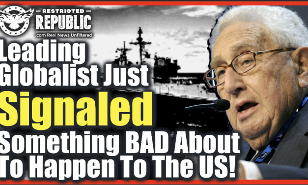 A Leading Globalist Just Signaled For U.S. To Go To War With…? What Does He Know That We Don't?