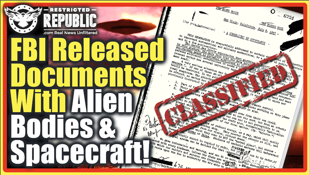 What!? FBI Releases Docs With Intel Of Alien Bodies & Spacecraft! NY Times Gets Sneak Peak Of Report!
