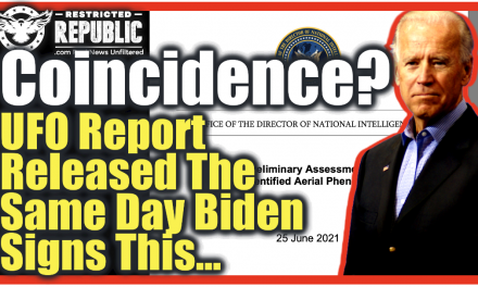 BUSTED! UFO Report Released On SAME DAY Biden Signs This… Coincidence? Distraction? I Think Not!