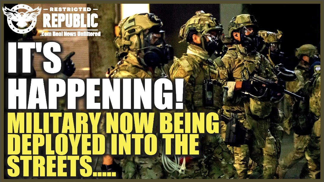 It's Happening! Martial Law Has Arrived!!! Chaos Exploding!
